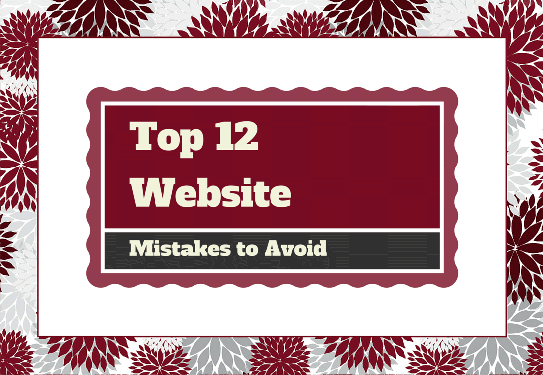 top 12 website mistakes