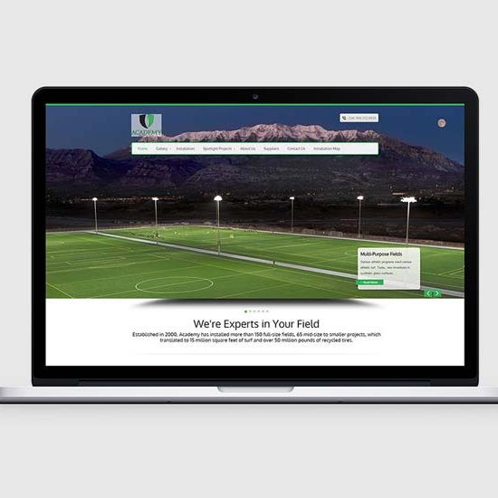 turf company wordpress website