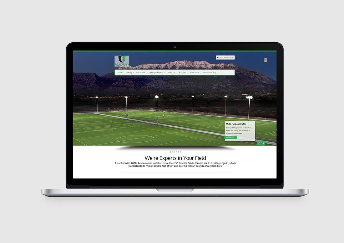 turf company wordpress website
