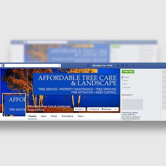 colorado tree care company facebook design