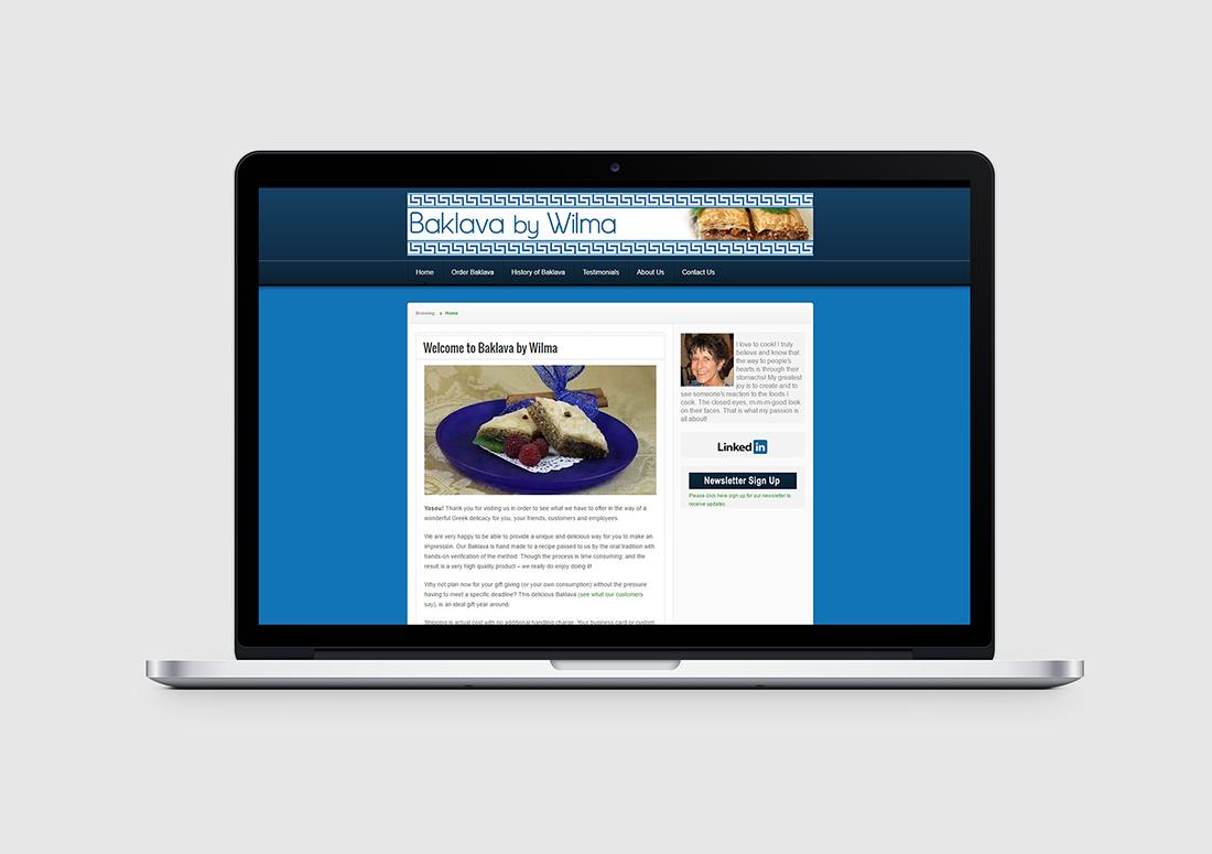 denver dessert website design