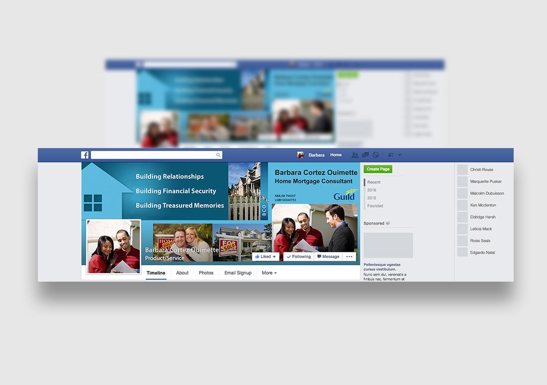 mortgage officer facebook design