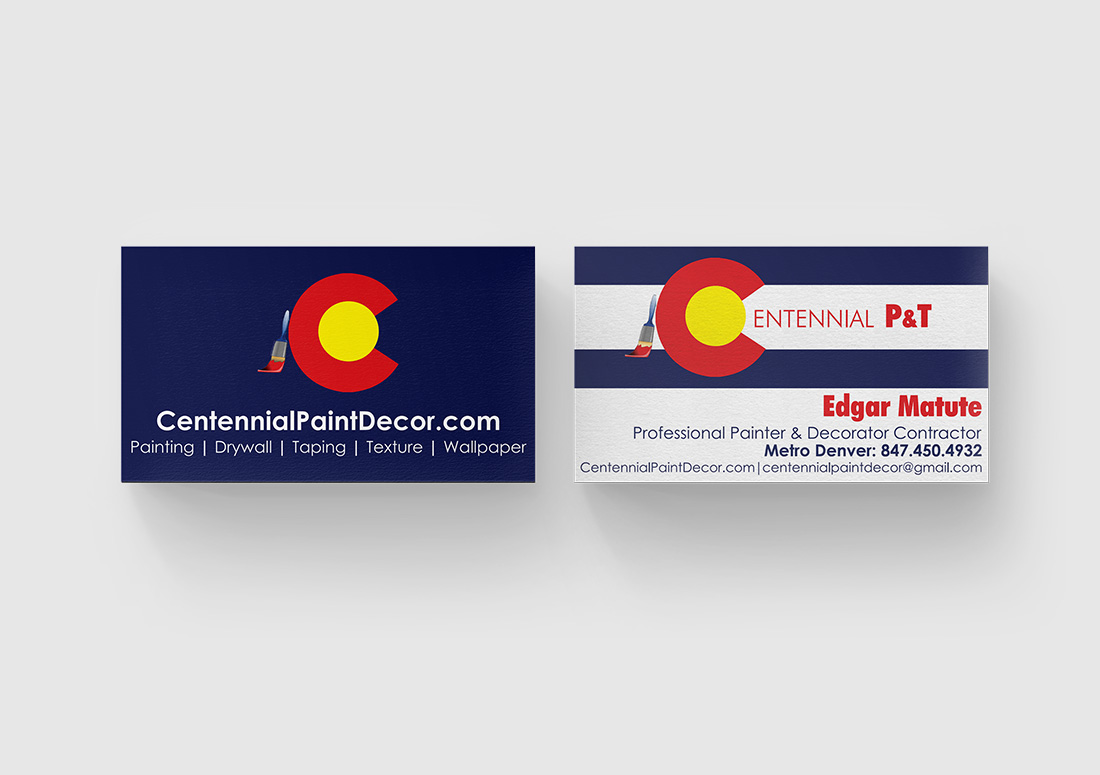 denver painting company business card