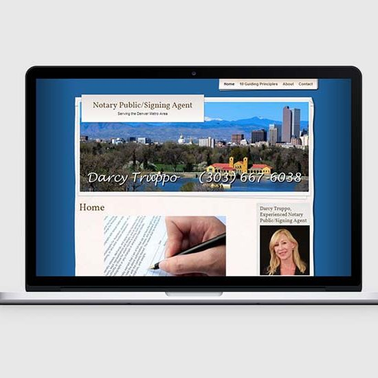 denver notary public web design