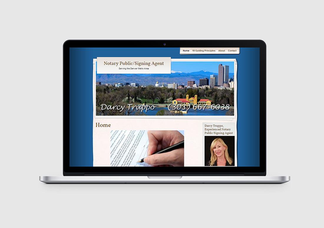 notary public denver web design