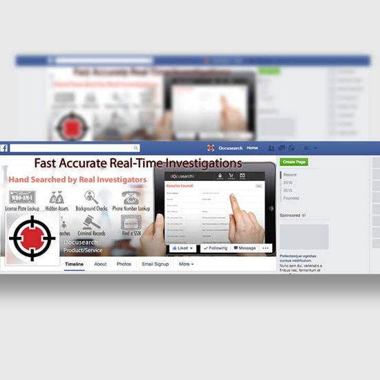 investigative firm facebook design