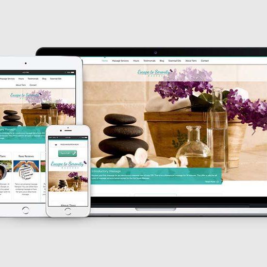 aurora co massage company website deisgn