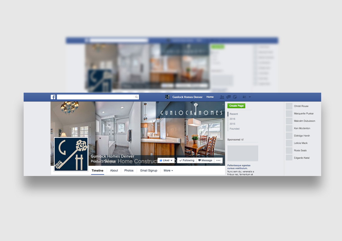 Denver Luxury Home Builder Social Media Design