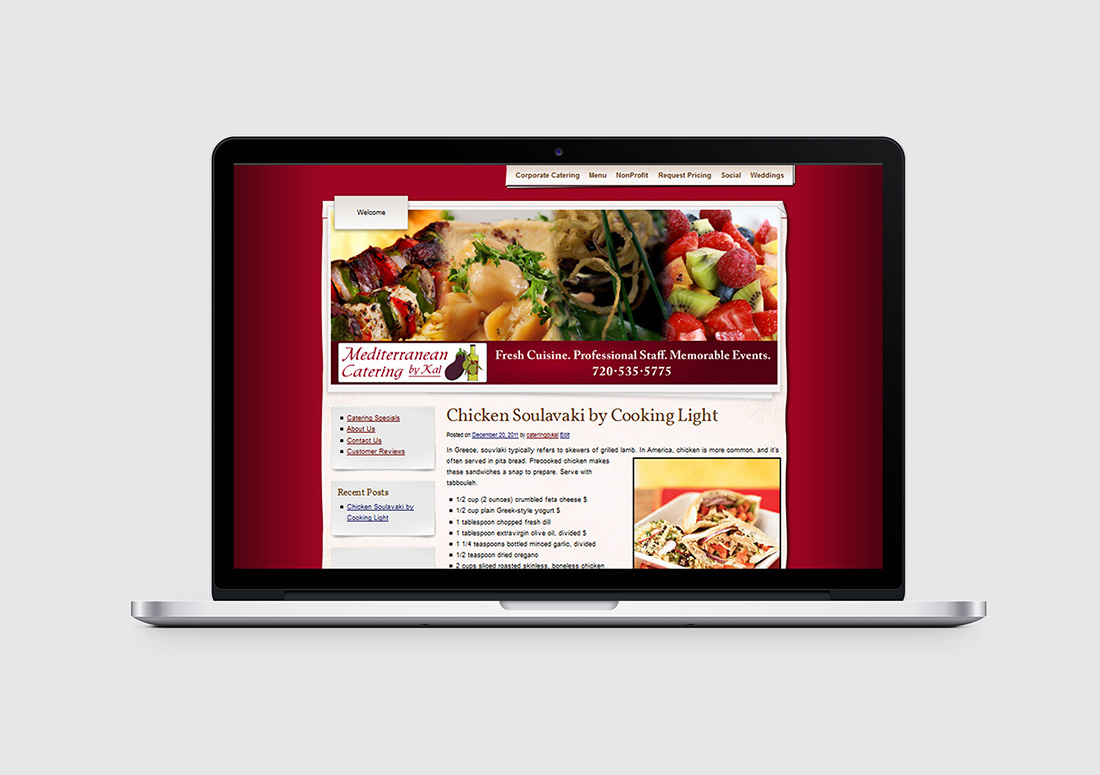 denver catering company web design
