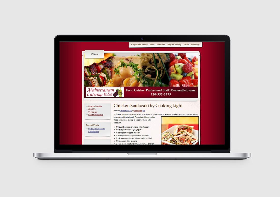 denver catering company web design