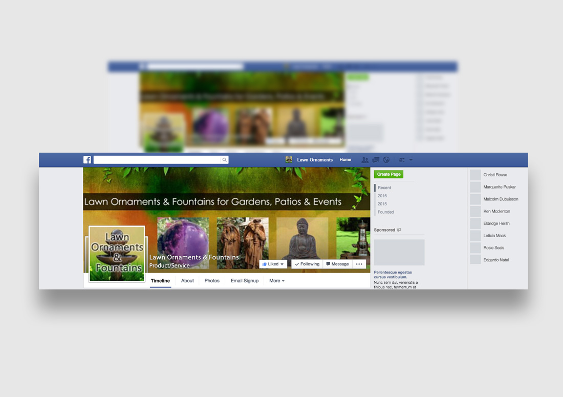 Lawn Ornaments Social Media Graphic Design