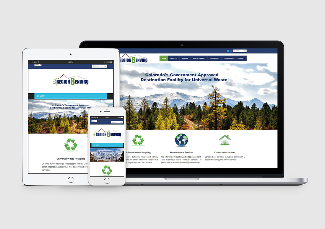 colorado environmental firm wordpress website design
