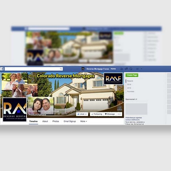 Reverse Mortgage Firm Social Media Design