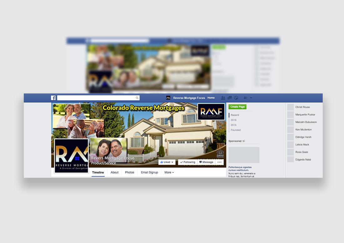 Reverse Mortgage Firm Social Media Design