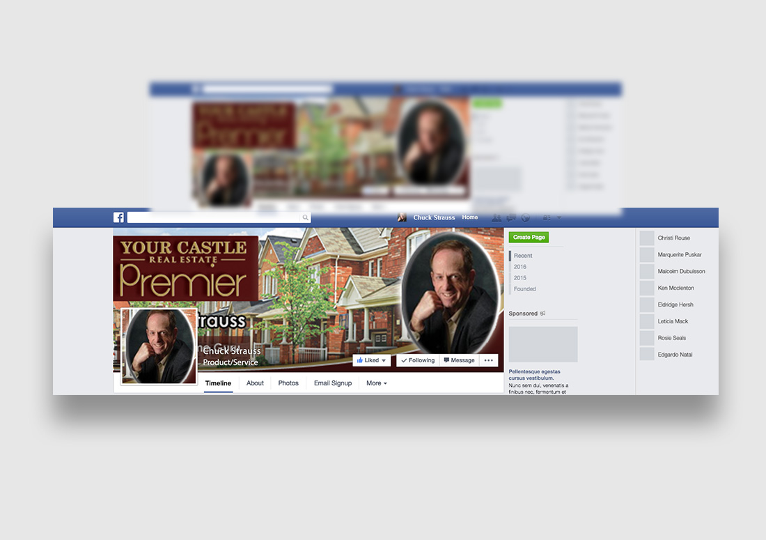 Social media graphics for realtor