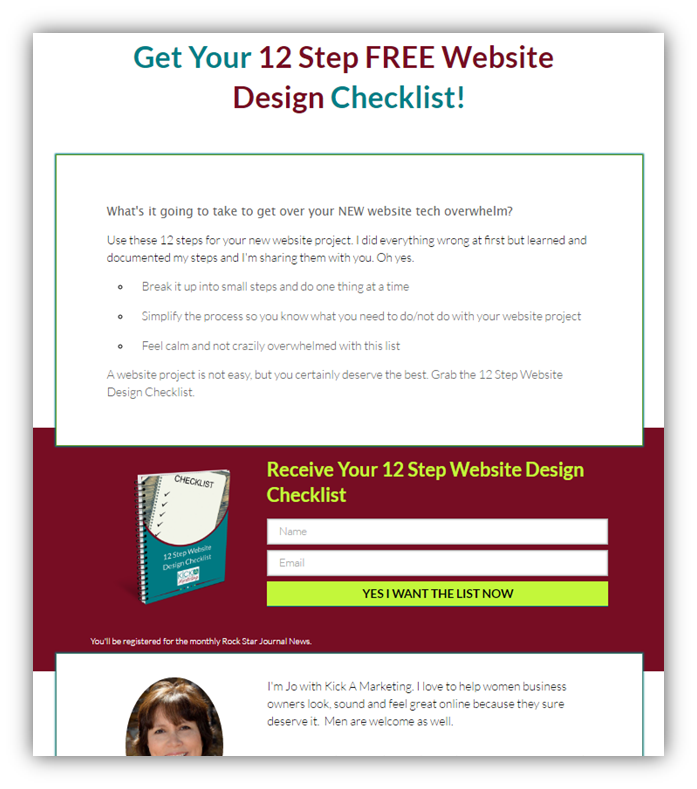 12 step web design checklist download