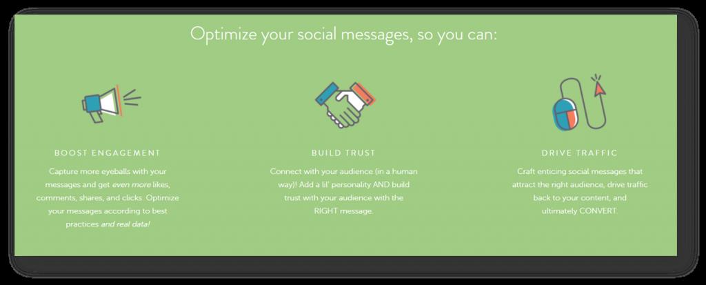 optimize social posts tool